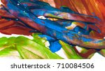 multi colored daub with paint... | Shutterstock . vector #710084506