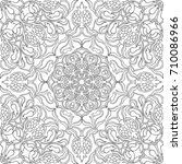 abstract floral pattern. vector ... | Shutterstock .eps vector #710086966