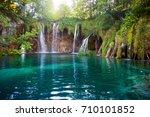waterfalls in national park... | Shutterstock . vector #710101852