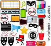 vector of drama  entertainment  ... | Shutterstock .eps vector #71010895