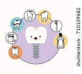 tooth implant with screw dental ...