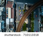 top view aerial shot of the... | Shutterstock . vector #710113318