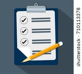 check list clipboard and pencil ... | Shutterstock .eps vector #710113378