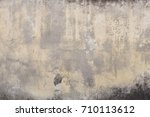 weathered old rustic wall... | Shutterstock . vector #710113612