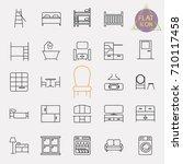 interiors furniture line icon...   Shutterstock .eps vector #710117458