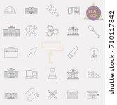 building line icons set | Shutterstock .eps vector #710117842