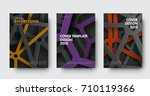 template of covers in modern... | Shutterstock .eps vector #710119366
