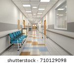 corridor waiting in the... | Shutterstock . vector #710129098