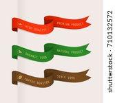 ribbons set vintage design.... | Shutterstock .eps vector #710132572