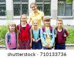 kids at school | Shutterstock . vector #710133736