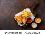 fish and chips british fast... | Shutterstock . vector #710135626