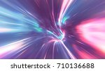 psychedelic wormhole | Shutterstock . vector #710136688