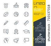 lineo editable stroke   school... | Shutterstock .eps vector #710137318