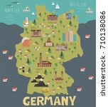 illustration map of germany... | Shutterstock .eps vector #710138086