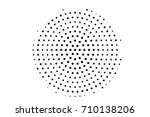 halftone pattern with black... | Shutterstock .eps vector #710138206