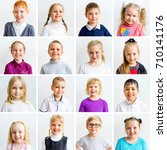 kids emotions collage | Shutterstock . vector #710141176