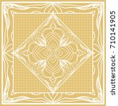 template print for sofa square... | Shutterstock . vector #710141905