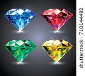 set of vector diamonds | Shutterstock .eps vector #710144482