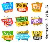 creative back to school vector...   Shutterstock .eps vector #710146126