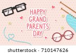 happy grandparents day card... | Shutterstock .eps vector #710147626