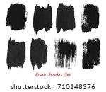 grungy brush strokes set over...   Shutterstock .eps vector #710148376