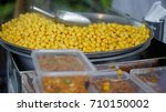 steam chickpea sell by the...   Shutterstock . vector #710150002