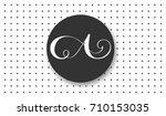 luxury brand line logo with...   Shutterstock .eps vector #710153035