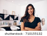 closeup of a young female... | Shutterstock . vector #710155132
