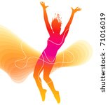the dancer. colorful silhouette ... | Shutterstock .eps vector #71016019