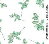 seamless watercolor... | Shutterstock . vector #710163082