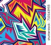 graffiti seamless pattern | Shutterstock .eps vector #710163955