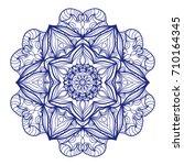 ethnic mandala. mehndi style... | Shutterstock . vector #710164345