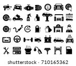 different details of automobile.... | Shutterstock .eps vector #710165362