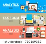 analytics information and... | Shutterstock .eps vector #710169382