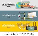 vector modern flat design web... | Shutterstock .eps vector #710169385