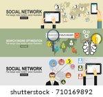 flat design.social network.... | Shutterstock .eps vector #710169892