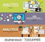 analytics information and... | Shutterstock .eps vector #710169985