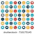 communication icons | Shutterstock .eps vector #710175145