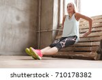 sport and exercise. beautiful...   Shutterstock . vector #710178382