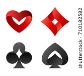 playing cards vector symbols. ... | Shutterstock .eps vector #710182582
