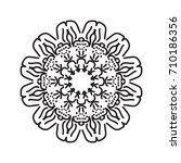 flower mandala  patterned... | Shutterstock .eps vector #710186356
