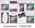 abstract vector layout... | Shutterstock .eps vector #710187502
