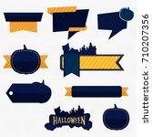 halloween price tags banner set | Shutterstock .eps vector #710207356