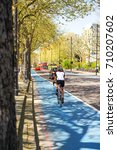 Small photo of London's bike lanes, Blue Cycle Lane