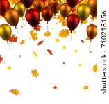 festive autumn background with... | Shutterstock .eps vector #710218156