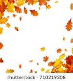 autumn background with golden... | Shutterstock .eps vector #710219308