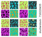 assembly of patterns in bright... | Shutterstock .eps vector #710220655