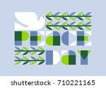 international peace day poster... | Shutterstock .eps vector #710221165