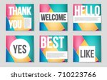 abstract vector layout... | Shutterstock .eps vector #710223766