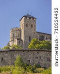 Small photo of SION, SWITZERLAND - JULY 19, 2017: Basilique de Valere, also known as Valere Castle, in Canton Valais.